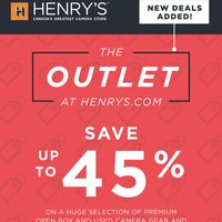 Henry's - The Outlet Flyer