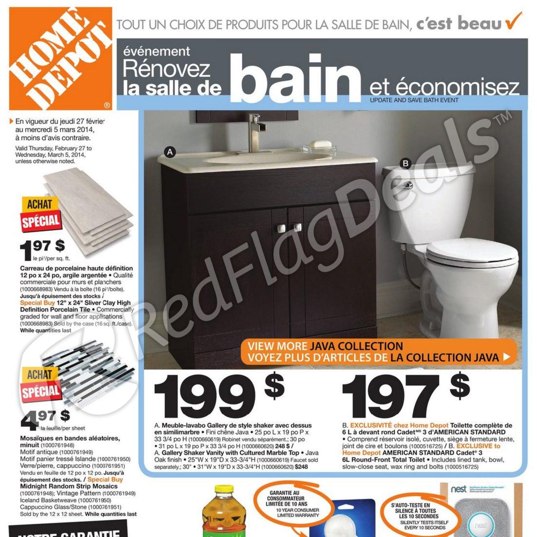 Home Depot Weekly Flyer Circulaire événement Rénovez La Salle De