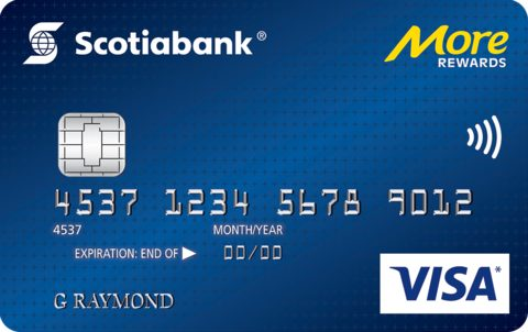 Scotiabank® More Rewards® * VISA* card