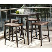 Walmart Hometrends 5 Piece High Dining Set   $#298.00/set Hometrends 5 Piece  High Dining Set