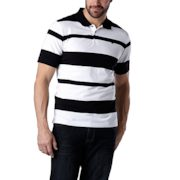 Denver Hayes - Modern Fit Everyday Short-sleeve Narrow Stripe Polo - $14.88