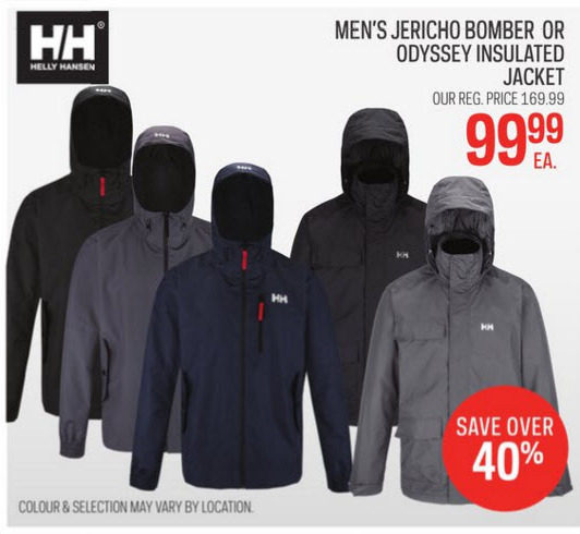 how to orders hottest sale coupon code Sport Chek: Helly Hansen Men's Jericho Bomber Or Odyssey ...