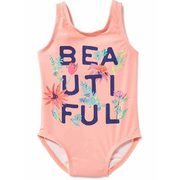 """beautiful"" Graphic Swimsuit For Toddler - $15.00 ($4.94 Off)"