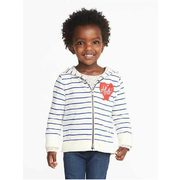 """hello!"" French-terry Zip Hoodie For Toddler Girls - $22.00 ($2.94 Off)"