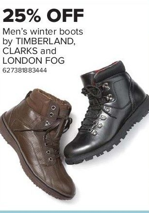 aspecto prometedor experiencia  The Bay: Men's Winter Boots by Timberland, Clarks, and London Fog -  RedFlagDeals.com
