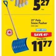 21'' Poly Snow Pusher - $11.77 (41% off)