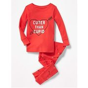 "2-piece ""cuter Than Cupid"" Graphic Sleep Set For Toddler & Baby - $15.50 ($4.44 Off)"