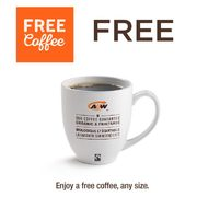 A&W Coupons: Get Any Size Coffee FREE, Teen Burger with Onion Rings for $6.49, Classic Breakfast Combo for $4.99 + More
