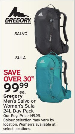 dd3353c7e7 Atmosphere Gregory Men s Salvo Or Women s Sula 24L Day Pack -  99.99 (30%  off) Gregory Men s Salvo Or Women s Sula 24L Day Pack