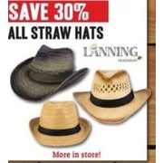 All Linning Straw Hats - 37% off
