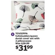 Tovsippa Full Double/queen Duvet Set With 2 Pillowcases  - $31.99