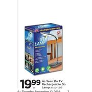 As Seen On TV Rechargeable Go Lamp - $19.99