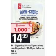 PC Gigantico Black Tiger Shrimp Raw Zipperback - $14.99