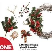 Christmas Picks & Wreath Supplies - BOGO Free