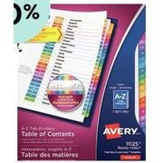 Avery Pre-Printed Dividers  - From $4.79 (20% off)