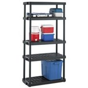 Certified Adjustable 5-shelf Resin Rack, 36 X 14 X 72-in - $34.99 ($15.00 Off)