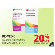 Biomedic Multivitamins And Minerals - 20% off