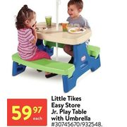 Little Tikes Easy Store Jr.Play Table With Umbrella - $59.97