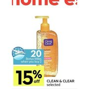 Clean & Clear  - 15% off