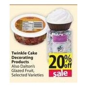 Twinkle Cake Decorating Products - 20% off